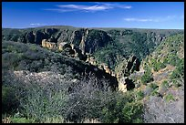 View from North rim. Black Canyon of the Gunnison National Park ( color)