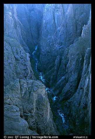 The Narrows seen from Chasm view, North Rim. Black Canyon of the Gunnison National Park (color)