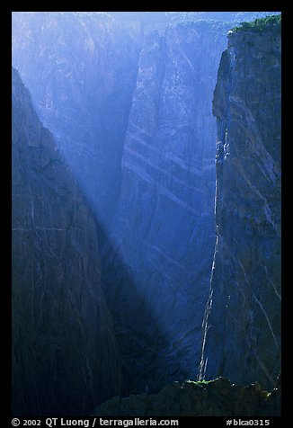 Narrows in late afternoon. Black Canyon of the Gunnison National Park (color)