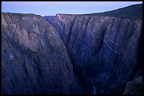 Painted wall from Chasm view at dawn, North rim. Black Canyon of the Gunnison National Park, Colorado, USA.