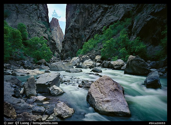 The Gunisson river near the Narrows. Black Canyon of the Gunnison National Park (color)