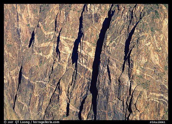 Detail of Painted wall. Black Canyon of the Gunnison National Park (color)