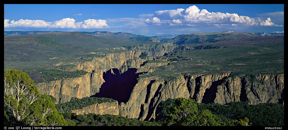 Black Canyon seen from a distance. Black Canyon of the Gunnison National Park (color)
