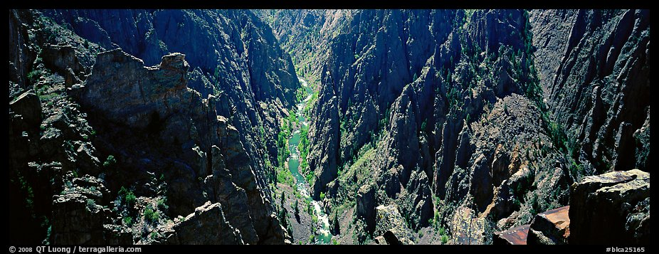 Gunnisson River running deep in narrow gorge. Black Canyon of the Gunnison National Park (color)