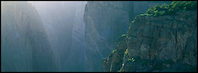 Chasm and light. Black Canyon of the Gunnison National Park (Panoramic color)