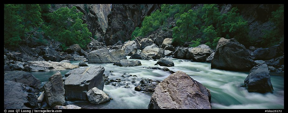 River Rapids in canyon narrows. Black Canyon of the Gunnison National Park (color)