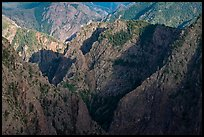 Canyon buttres from Tomichi Point. Black Canyon of the Gunnison National Park, Colorado, USA. (color)