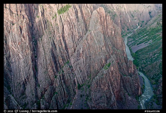 Gunisson River at Cross Fissures. Black Canyon of the Gunnison National Park, Colorado, USA.