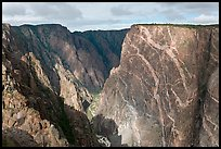 Painted wall from south rim. Black Canyon of the Gunnison National Park, Colorado, USA. (color)
