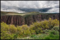 Canyon and storm clouds, Gunnison Point. Black Canyon of the Gunnison National Park, Colorado, USA. (color)