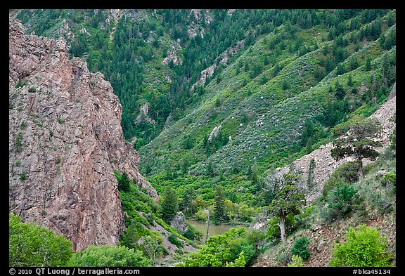 East Portal in spring. Black Canyon of the Gunnison National Park (color)