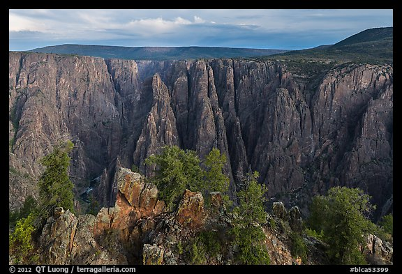 View from Gunnison point. Black Canyon of the Gunnison National Park (color)