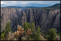 View from Gunnison point. Black Canyon of the Gunnison National Park ( color)