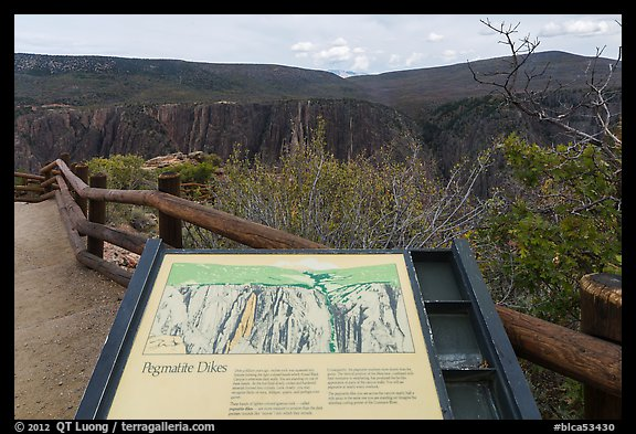 Interpretive sign. Black Canyon of the Gunnison National Park (color)