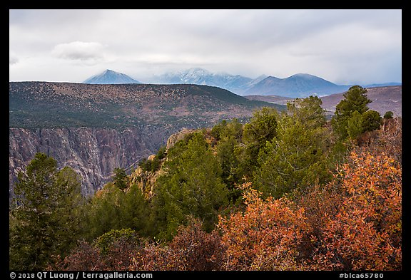 West Elk Mountains from High Point. Black Canyon of the Gunnison National Park (color)