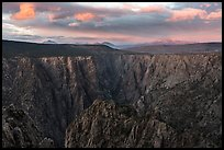 Warner Point, sunset. Black Canyon of the Gunnison National Park ( color)