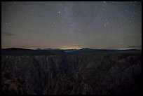 Warner Point, night. Black Canyon of the Gunnison National Park, Colorado, USA.