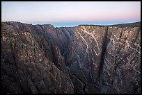 Painted Wall, dawn. Black Canyon of the Gunnison National Park ( color)