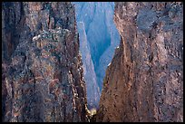 Canyon seen through notch, Rock Point. Black Canyon of the Gunnison National Park ( color)