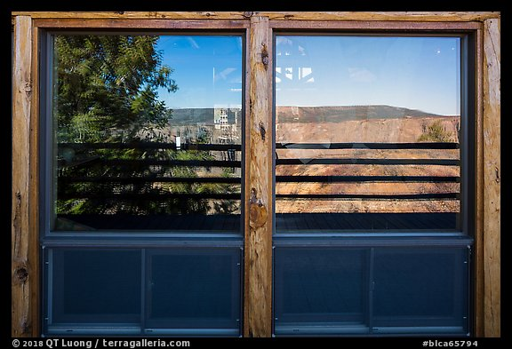 Visitor Center window reflexion. Black Canyon of the Gunnison National Park (color)