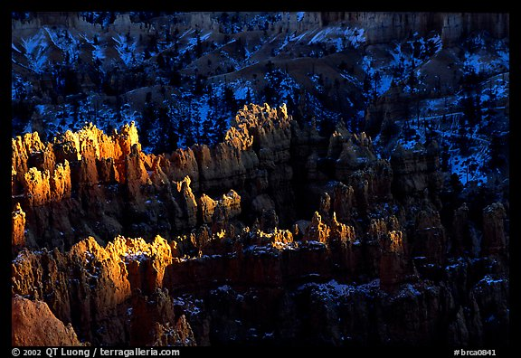 Light and shadows, from Sunset Point, late afternoon. Bryce Canyon National Park (color)