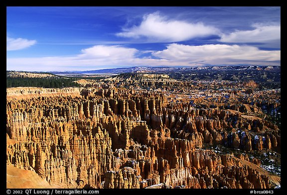 Silent City in Bryce Amphitheater from Bryce Point, morning. Bryce Canyon National Park (color)