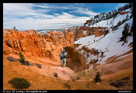 Natural Bridge in winter. Bryce Canyon National Park (color)