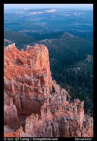 Rock formations and forest near Yovimpa Point. Bryce Canyon National Park (color)