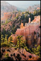 Fairyland Canyon, sunrise. Bryce Canyon National Park ( color)