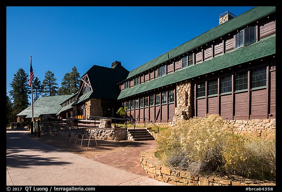 Bryce Canyon Lodge. Bryce Canyon National Park (color)
