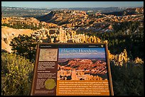 Hike the Hoodoos Rim Trail interpretive sign. Bryce Canyon National Park ( color)