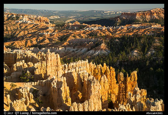 View from northern Rim Trail, late afternoon. Bryce Canyon National Park (color)