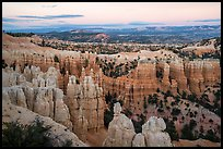 Amphitheater near Fairyland Point at dusk. Bryce Canyon National Park ( color)