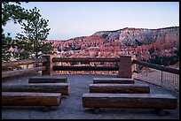 Amphitheater for geology talks, Bryce amphitheater rim. Bryce Canyon National Park ( color)
