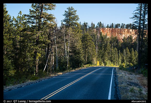 Park road. Bryce Canyon National Park (color)
