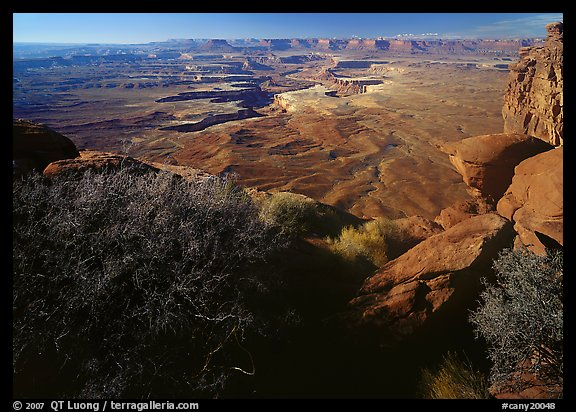 Green river overlook and Henry mountains, Island in the sky. Canyonlands National Park (color)