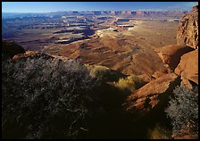 Green river overlook and Henry mountains, Island in the sky. Canyonlands National Park, Utah, USA. (color)