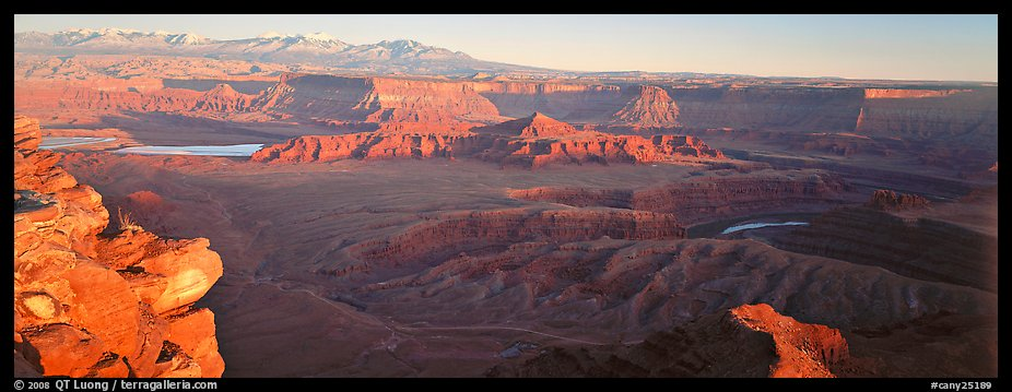 Canyon landscape at sunset, Dead Horse Point. Canyonlands National Park (color)