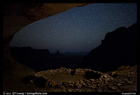 False Kiva at night. Canyonlands National Park (color)
