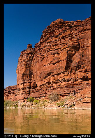 Red cliffs above Colorado River. Canyonlands National Park (color)