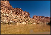 Colorado River Canyon. Canyonlands National Park, Utah, USA. (color)