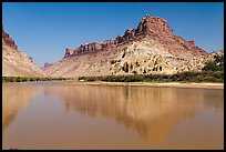 Colorado River at Spanish Bottom with camp in distance. Canyonlands National Park ( color)