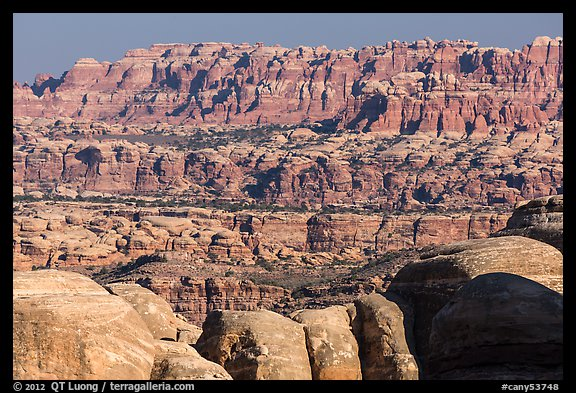 The Needles seen from the Doll House. Canyonlands National Park (color)
