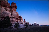 Dollhouse at dusk. Canyonlands National Park ( color)