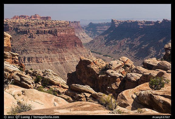 Colorado River Canyon seen from Maze District. Canyonlands National Park (color)
