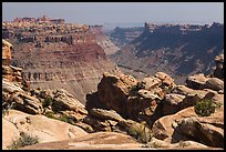 Colorado River Canyon seen from Maze District. Canyonlands National Park ( color)