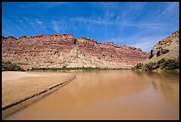 Colorado River and shore near its confluence with Green River. Canyonlands National Park ( color)