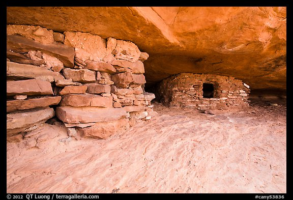 Ancient granary on Aztec Butte. Canyonlands National Park (color)