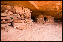 Ancient granary on Aztec Butte. Canyonlands National Park, Utah, USA. (color)