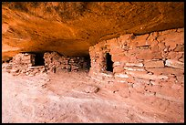 Granary ruins on Aztec Butte. Canyonlands National Park, Utah, USA. (color)